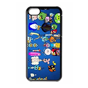 American animated tv series Regular Show Personalized iPhone 5C Hard Plastic Shell Case Cover White&Black(HD image)
