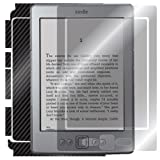ArmorSuit MilitaryShield - Amazon Kindle Wi-Fi 6'' E Ink Display Black Carbon Fiber Skin Back Protector Film + Anti-Bubble HD Clear Screen Protector For Amazon Kindle Wi-Fi 6'' E Ink Display
