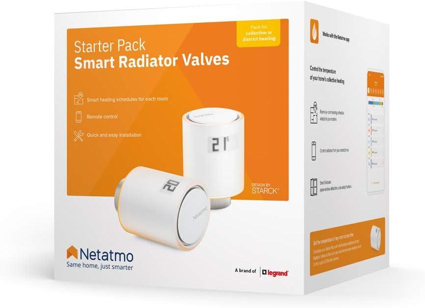 Netatmo NVP-FR Starter-Set Intelligente Ventile f/ür Heizk/örper