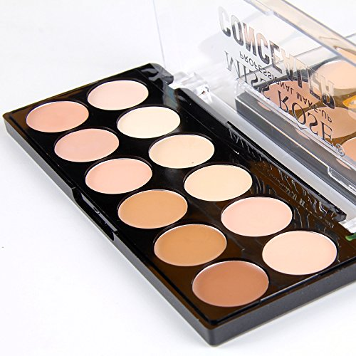 12 Color Professional Cream Contour, Highlighting Concealer Makeup Kit 3 in 1 - Contouring Foundation/Concealer Palette - Vegan, Cruelty Free & (Highlighting Cream)