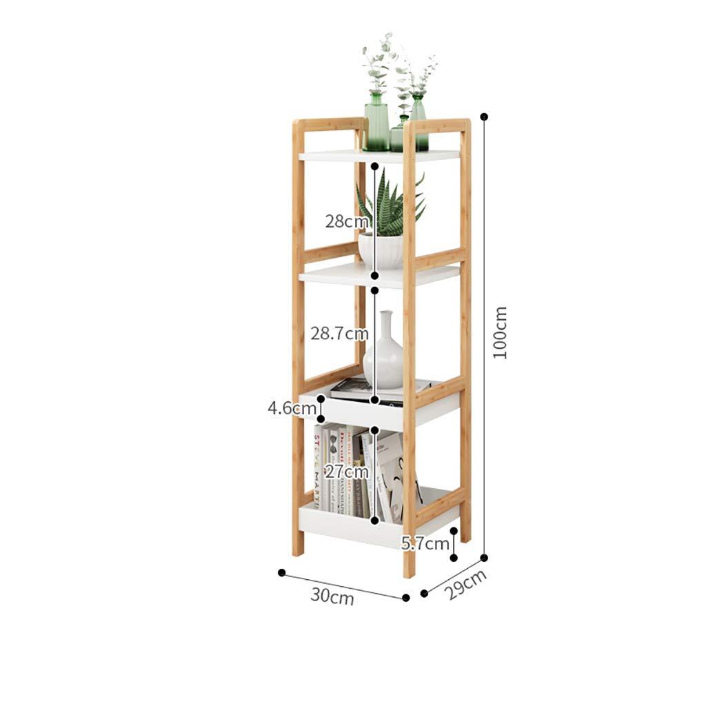床置きラックシェルフ、多機能3段棚、ヨーロッパの木製床置き棚本棚マルチフラワーラック (色 : 平方, サイズ さいず : Four floors) B07H942NWW 平方 Four floors