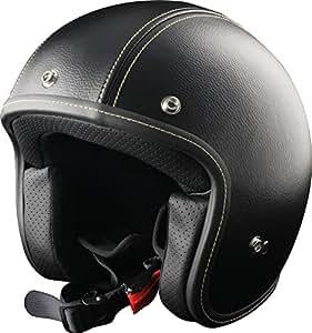 Origine Helmets Primo Leather Casco Jet, Negro, L