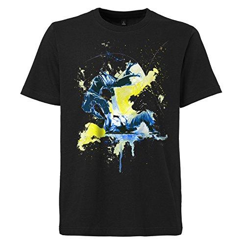 Judo_III schwarzes modernes Herren T-Shirt mit stylischen Aufdruck