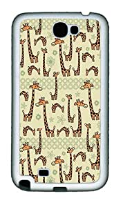 Giraffe TPU Rubber Silicone Soft Case Cover for Samsung Galaxy Note 2 / Note II / N7100 - White
