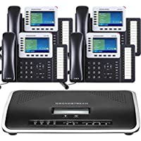 FREE One Year Phone Service with Business Phone System by Grandstream: Ultimate Package with 4 Phones