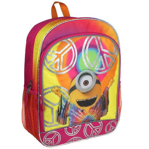 Minion Movie 16 inch Backpack - Love, Peace & Happiness