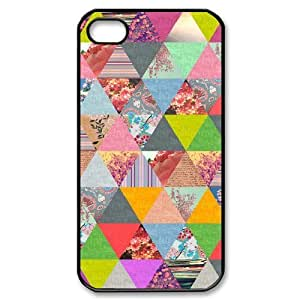 Colorful Stripes Design Brand New Cover Case for Iphone 4,4S,diy case cover ygtg602713 by icecream design