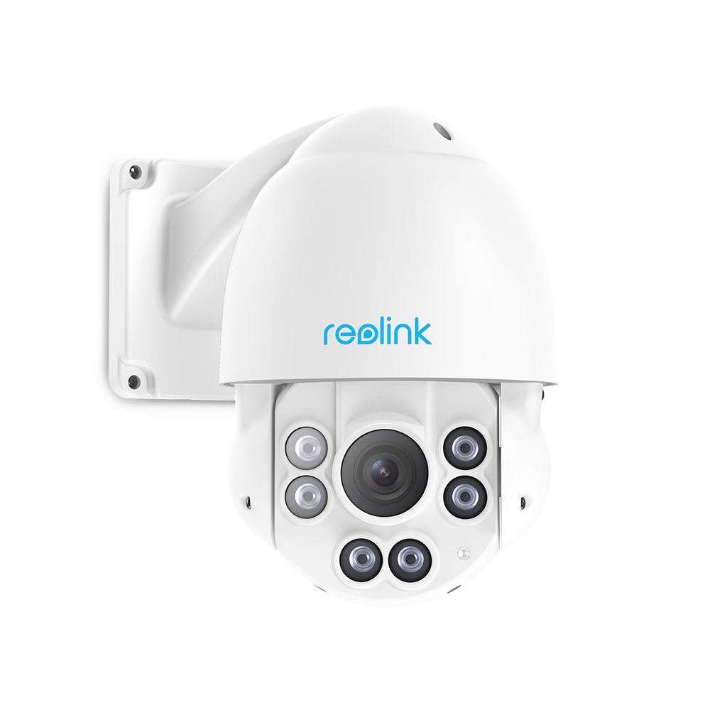 Reolink PTZ PoE IP Security Camera 5MP Super HD 3072x1728 Pan Tilt 4X Optical Zoom High Speed Dome Outdoor Indoor RLC-423 (PoE Cam w/ Built-in 32GB SD Card)