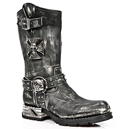 Mr030 M Black Overknee S2 Herren Rock Black Stiefel Motorradstiefel New Black xnwCpqA