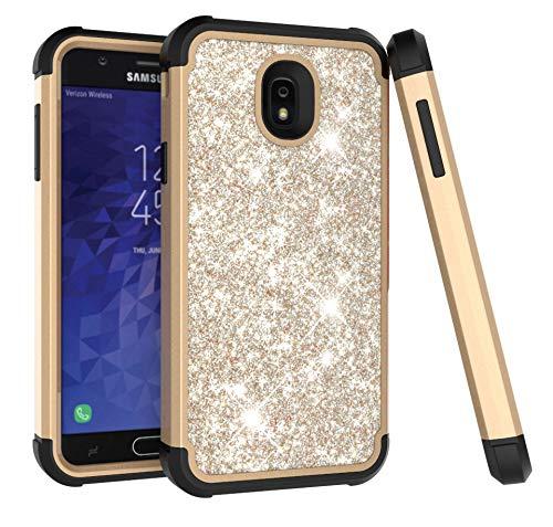 Samsung Galaxy J7 2018/ Galaxy J7 V 2nd Gen Case/Galaxy J7 Refine Case/Galaxy J7 Aero/J7 Star/J7 Top/J7 Crown/J7 Aura/J7 Eon/J737V/J737T Case, ZERMU 3in1 Glitter Sparkle Bling Shining Case for J7 2018