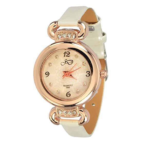 Reloj de Pulsera Agujas quarzo Cuero Joya Reloj Mujer Hera Blanco Regalo: Amazon.es: Relojes