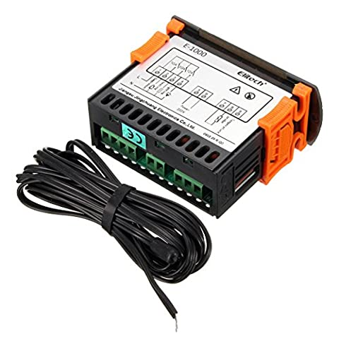 220V Touch Digital LCD Temperature Controller Cooling Heating Switch Thermostat (Ford Mustang 2009 Tank Cover)