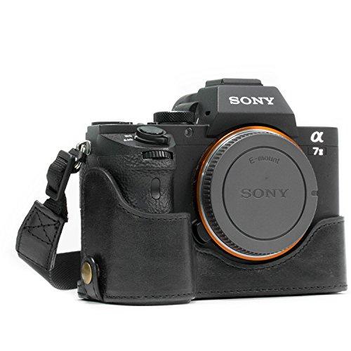 - MegaGear MG1129 Sony Alpha A7S II, A7R II, A7 II Genuine Leather Camera Half Case and Strap - Black