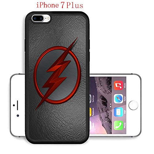 iPhone 7 Plus Case, The TV Series The Flash 53 Drop Protection Never Fade Anti Slip Scratchproof Black Soft Rubber (Best Female Superhero)