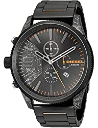 Men's Rasp Chrono 50 Black IP Watch DZ4469