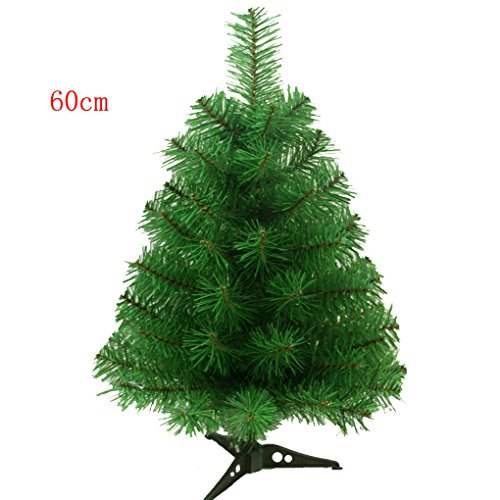 S-ssoy 2ft Artificial Christmas Tree With Plastic Stand Holiday Season Indoor Outdoor Decoration(PVC), Green (Artificial Outdoor Xmas Trees)