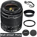 Canon EF-S 18-55mm f/3.5-5.6 SLR Lens (White Box) For EOS Rebel XTi, XT, XSi, XS, T1i, T2i, T3, T3i, T4i, T5, T5i, T6, T6i, T6s, 10D, SL1, 20D, 30D, 40D, 50D, 60D, 70D, 80D, 7D Digital SLR Cameras