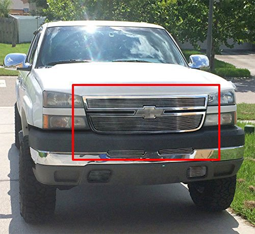 Fit 05-06 Chevy Silverado 2500 / 06 1500 Billet Grille Grill Combo - Aluminum