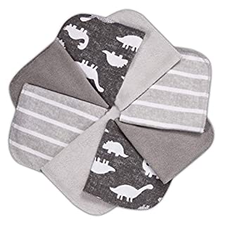 """Baby Washcloths, Momcozy Ultra Soft Absorbent Towel, 8pcs Newborn Bath Face Towel, Natural Reusable Baby Wipes for Sensitive Skin, Baby Registry as Shower, 10""""x10"""" (Grey)"""