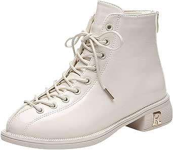 Posional Zapatos Mujer OtoñO Invierno 2019 Botas De Plataforma Zapatos De TacóN Botines Zapatos Interiores Botines De Mujer Botines De Cuero Caballero Boots Zip Cowboy Shoes: Amazon.es: Ropa y accesorios