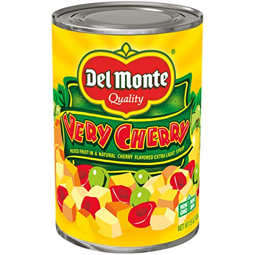 Del Monte Canned Very Cherry Mixed Fruit in Natural Cherry Flavored Light Syrup, 15-Ounce (Pack of 12)