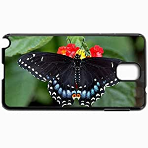 Fashion Unique Design Protective Cellphone Back Cover Case For Samsung GalaxyNote 3 Case Butterfly Black