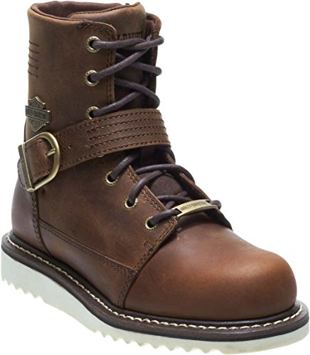 Harley-Davidson Women's Darton Motorcycle Boot, Brown, 7.5 Medium US (Best Womens Motorcycle Boots)