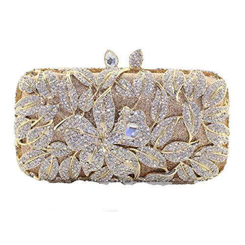 Banquet Ladies Diamond Handbags Evening Packs Silver Rhinestones Bridesmaid a6Zvqw
