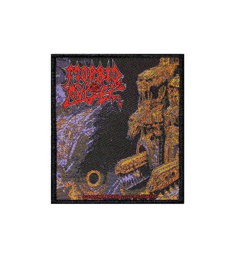 [해외]병적 인 천사 죽음의 금속 음악 악대 게이트웨이 소멸 직조 Applique 패치/Morbid Angel Death Metal Music Band Gateways to Annihilation Woven Applique Patch