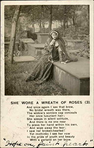 She Wore A Wreath Of Roses 3 Poems & Poets Original Vintage Postcard