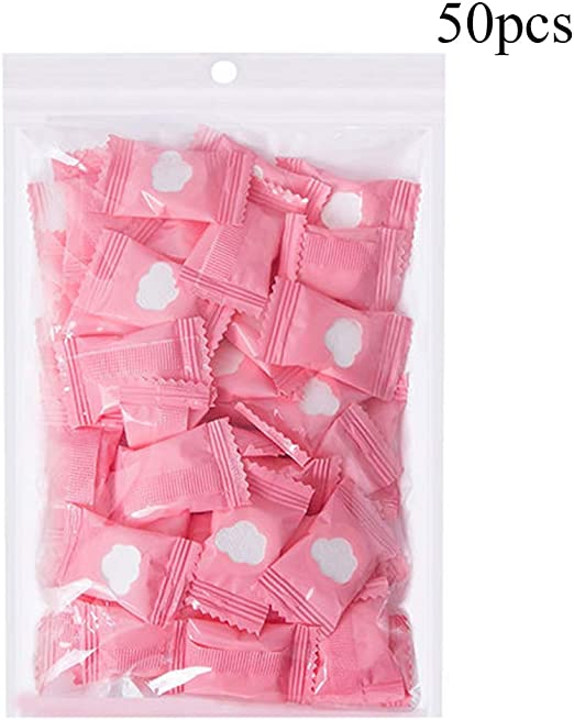 50pcs Compressed Disposable Washcloths Thicker Cotton Portable Reusable Towels