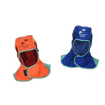 Tocado blesiya 2 piezas Protección capucha cuello Soldadura Casco de seguridad la fiamma