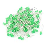 uxcell 100 Pcs 3mm Round LED Green Light Emitting Diode