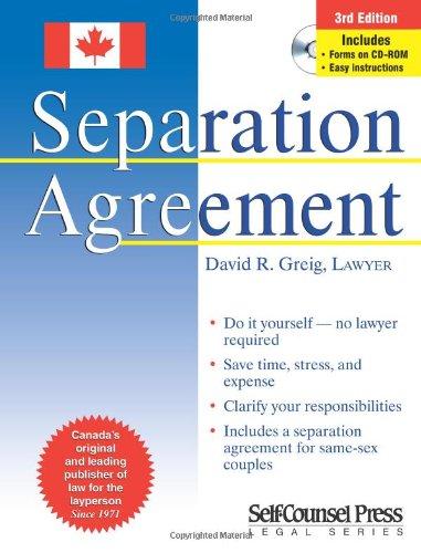 Separation agreement david r greig 0069635807897 books amazon solutioingenieria Image collections