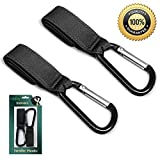 Stroller Hook buggy Clips,Black, 2 Pack Set, Multi-Purpose Stroller Hooks, Are Great Accessories for Mommy When in A shopping Mall, Picnic, Backstreet, Jogging Park, Grate For Hanging Diaper Bags,