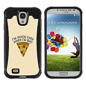LASTONE PHONE CASE / Suave Silicona Caso Carcasa de Caucho Funda para Samsung Galaxy S4 I9500 / Pizza Food Foodie Minimalist Text