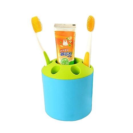 wikor cepillo de dientes y pasta de dientes Holder Multifuncional soporte para bolígrafos y cuarto de