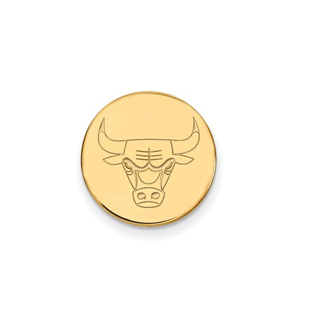 NBA Chicago Bulls Lapel Pin in 14K Yellow Gold