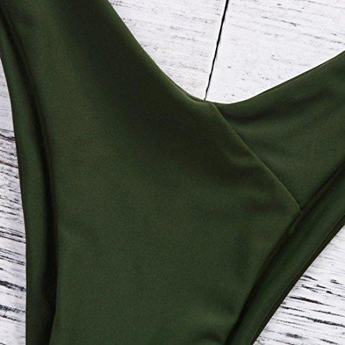 Costume da Set bagno Bikini feiXIANG up del punto Stampa Costumi Benda Fascia A da Verde Push bagno Mutande Scollato Swimwear Reggiseno d'onda Sexy Donne Mare Imbottito Bendare Balneare xIq6wdq