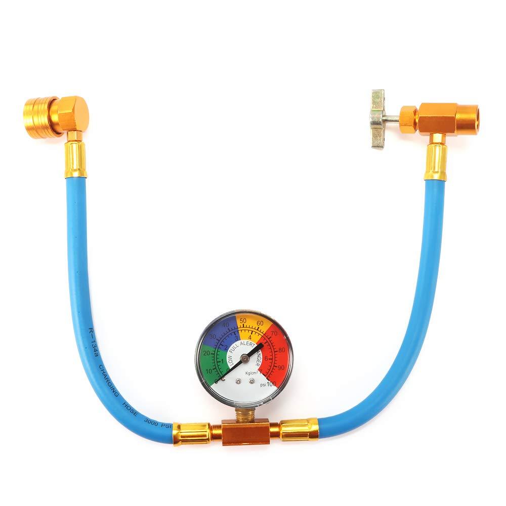 Houkiper Tuber/ía de carga de refrigerante de la manguera de medida de la recarga R134A con el adaptador del indicador