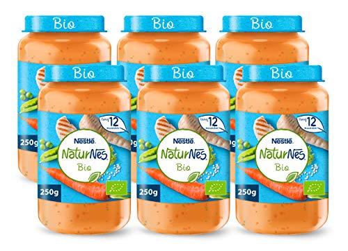 NaturNes Bio Pastinaak Doperwten Rijst Kip – babyvoeding biologisch – vanaf 12 maanden – 6 stuks