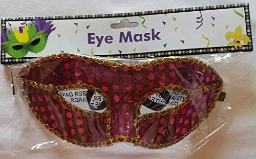 [Mardi Gras Sequin Eye Mask Masquerade Costume Accessory Adult Masks] (Mardi Gras Outfit Ideas)