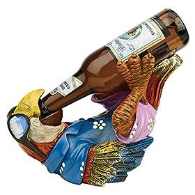 Design Toscano Beer Buddy Tropical Tiki Parrot Bot...