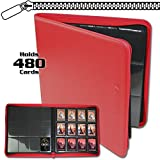 BCW Z-Folio LX Zipper Portfolio Red 12 Pocket Playset Album