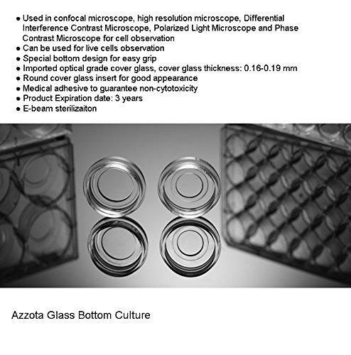 Azzota Sterile 6 Well Glass Bottom Cell Culture Plate - Glass Dia. 20mm by Azzota
