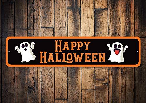 T56imh Happy Halloween Sign, Happy Halloween, Ghost Lovers, Halloween Signs, Scary Halloween Sign, Halloween Decor - Quality Aluminum Halloween]()