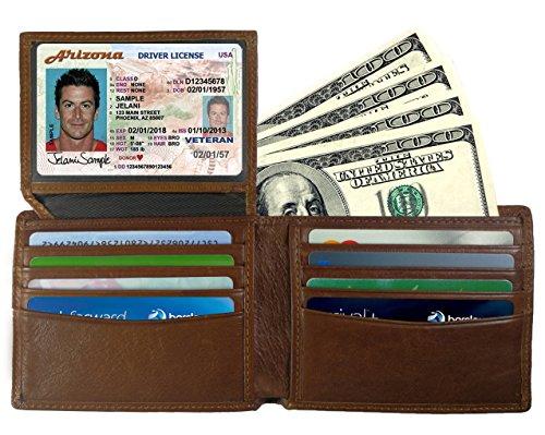 (Mens Wallet - Genuine Leather RFID Blocking Bifold Wallet for Men)