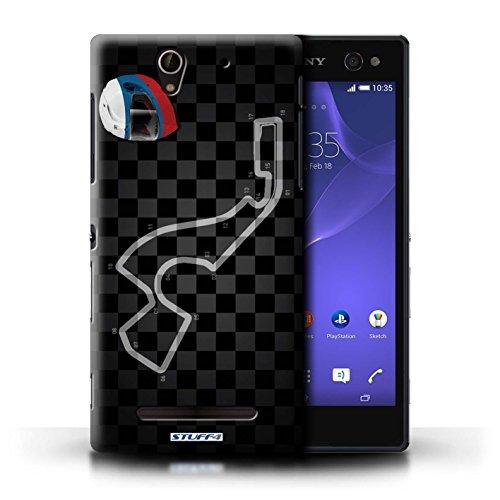 Kobalt® Imprimé Etui / Coque pour Sony Xperia C3 / Russie/Sochi conception / Série 2014 F1 Piste