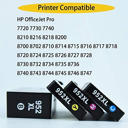 3 Color Ink 952XL for HP Officejet Pro 8724 8725 8726 8727 8728 8730 8732 8734