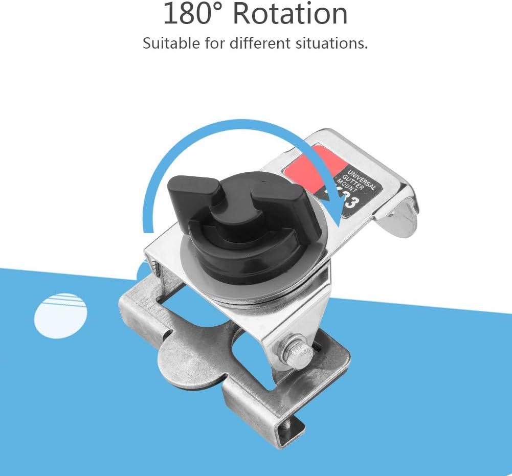 180/° Rotation Ham Radio Antenna Mount Full Protection Antenna Brackets Mounts Walkie Talkie Antenna Bracket Silver